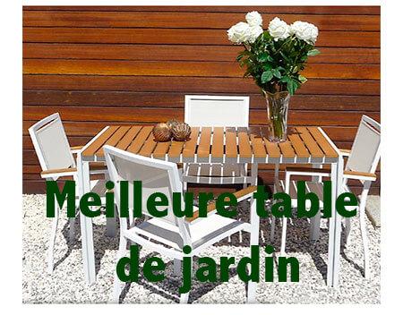 table de jardin haut de gamme