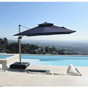Parasol déporté orientable haut de gamme