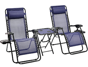 Amazon Basics Lot de 2 fauteuils relax pliants